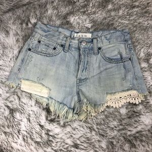 We The Free Shorts - We The Free | FREE PEOPLE Daisy Chain Lace Shorts
